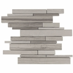 Valentino Gray Mixed Stick Mosaic Marble Tile