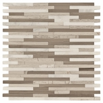 Valentino Light Mixed Stick Mosaic Marble Tile
