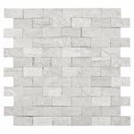 Valentino White Mixed Brick Mosaic Marble Tile