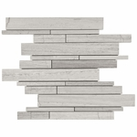 Valentino White Mixed Stick Mosaic Marble Tile