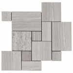 Valentino White Patterned Mosaic Marble Tile