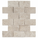Vanilla Brick Mosaic Travertine Tile