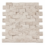 Vanilla Brick Travertine Mosaic Tile