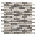 Vaua Brick Mosaic Glass Tile