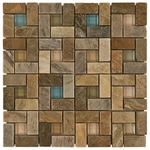 Villa Real Decorative Mosaic Glass & Stone Tile 8mm