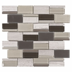 Viti Mix Brick Mosaic Glass Tile