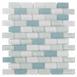Vittoria Brick Mosaic Glass Tile 8mm
