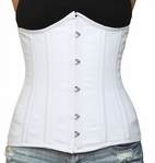 045 white cotton Double Steel Boned Underbust Corset