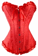 063 red sweetheart corset