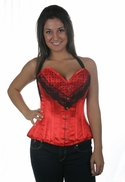 1026 Red Satin Halter Corset-special order