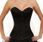 146-Black Satin Authentic Overbust Corset