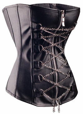 2701 Leather and Chains Overbust Corset