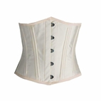 7130 Cream Taffeta Waist Training Corset