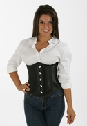 7160 Black Taffeta waist training corset