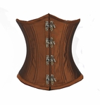 7170 Rust Taffeta Steel Boned Waist Training Corset
