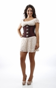 7180 Burgundy Taffeta Steel boned Authentic Waist Training Corset