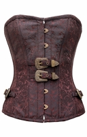 745 Brown Brocade Steampunk Corset