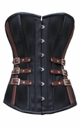 748 Black and Brown Steampunk Overbust Corset