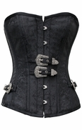 750 Black Brocade Steampunk Corset