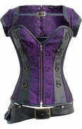 879 Purple Steampunk Corset and Jacket