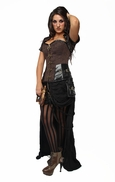 9001 Brown Steampunk Steel Boned Corset and Jacket.
