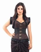 9004 Brown Steampunk Corset and Jacket