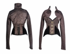 9007 Brown Steampunk Corset and Long Sleeved Jacket * No Returns