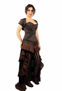 9009 Brown Steampunk Corset and Jacket