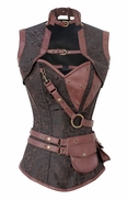 999 Brown Steampunk Corset