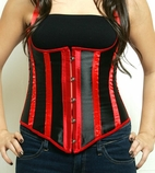 a093 Red and Black Underbust Corset