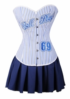 a2329 Ball Player Corset Skirt Set