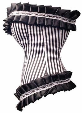a2920 Satin and Lace pinstripe corset