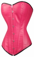 a2999 Rose leather overbust corset