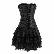 Black lace corset dress-No Returns