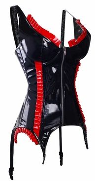 Black/Red Vinyl Corset