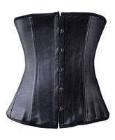 Classic Faux Leather Underbust corset