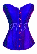 dg2715 Royal blue Satin overbust corset