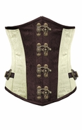 FCS004 Cream color brocade steampunk underbust corset
