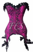 Purple Brocade Garter Corset