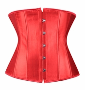 Red Satin Underbust Corset