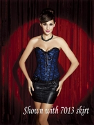 v815 Black and Blue Overbust Corset