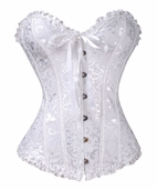 White Bridal Satin Sweetheart Corset