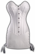 White Faux Leather corset and matching skirt