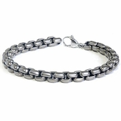 7mm Gray Titanium Box Chain Bracelet