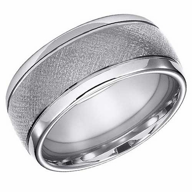 ArtCarved 10mm Tungsten Carbide Florentine Ring