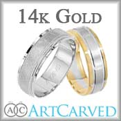ArtCarved 14K Gold Wedding Bands