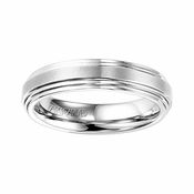 ArtCarved 5mm White Tungsten Carbide Ring