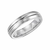 ArtCarved 5mm White Tungsten Carbide Ring with Groove