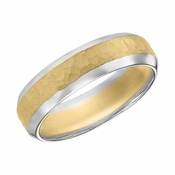 ArtCarved 6mm Hammered 14K Gold Reverse True Ring