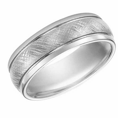 ArtCarved 7.5mm Tungsten Carbide Ring with Parallel Grooves